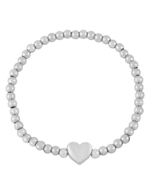 C (steel) Brass Star Minimalist Beaded Bracelet
