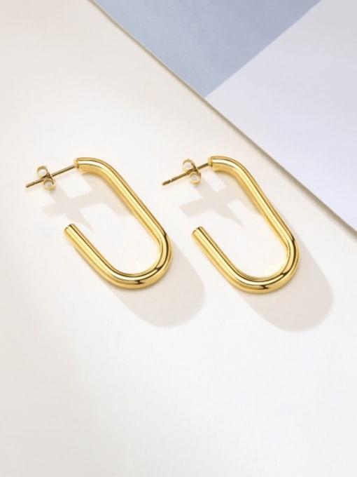 CONG Titanium Steel Geometric Minimalist Stud Earring 0