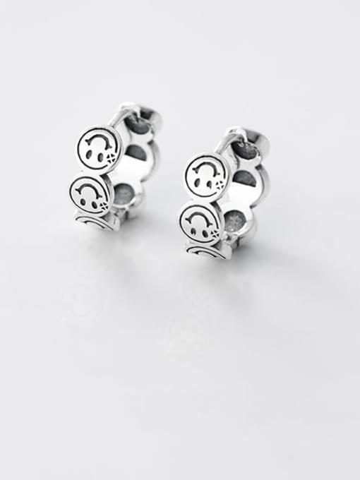 Rosh 925 Sterling Silver Smiley Vintage Stud Earring
