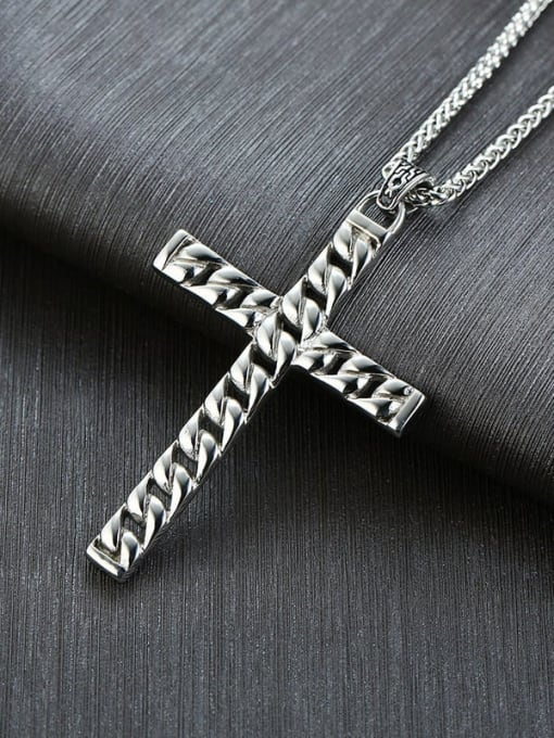 CONG Stainless steel Cross Minimalist Regligious Necklace 2