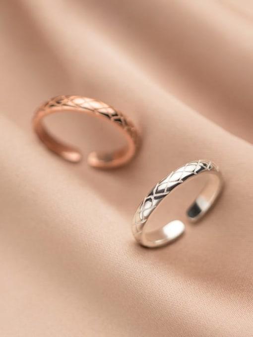 Rosh 925 Sterling Silver Rhinestone Round Minimalist Band Ring 0