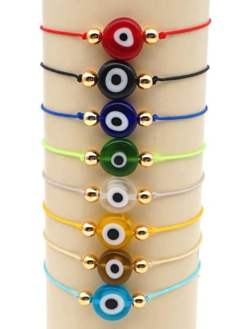 Roxi Stainless steel Bead Evil Eye Bohemia Adjustable Bracelet