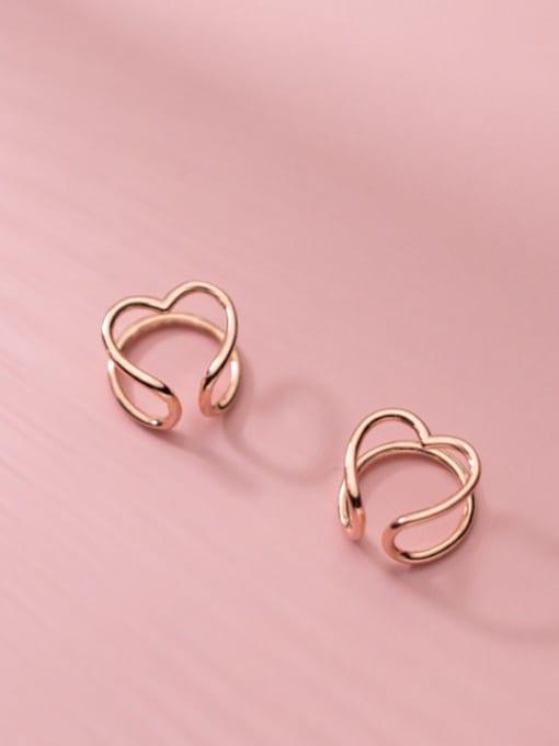 Rosh 925 Sterling Silver Heart Minimalist Clip Earring 3