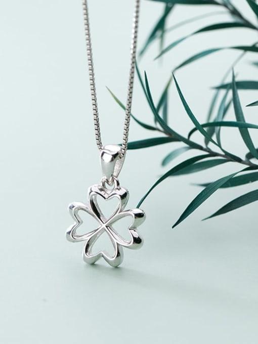 Rosh 925 Sterling Silver Flower  Minimalist Pendant 1