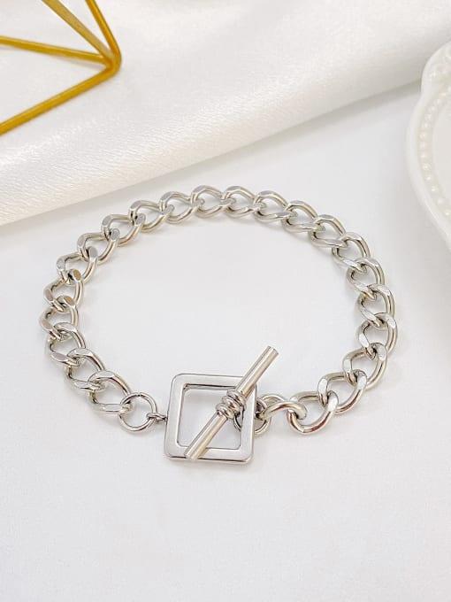 Open Sky Titanium Steel Hollow Geometric Chain Vintage Link Bracelet 2