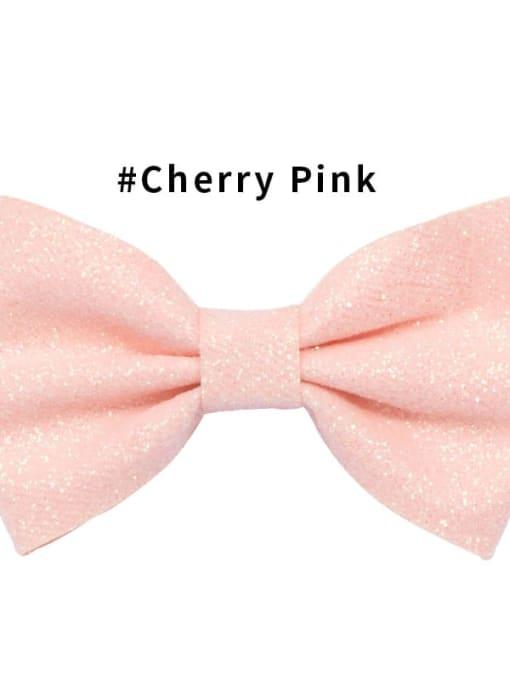 10 Cherry Blossom powder Alloy Fabric Cute Bowknot  Multi Color Hair Barrette