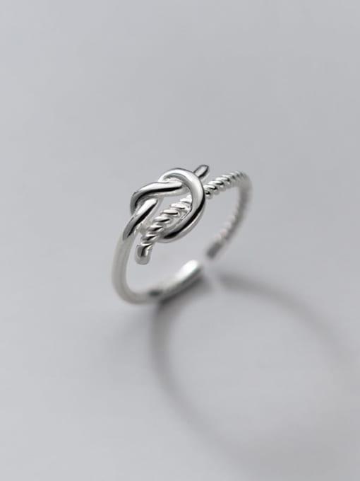 Rosh 925 Sterling Silver Rhinestone Irregular Vintage Band Ring