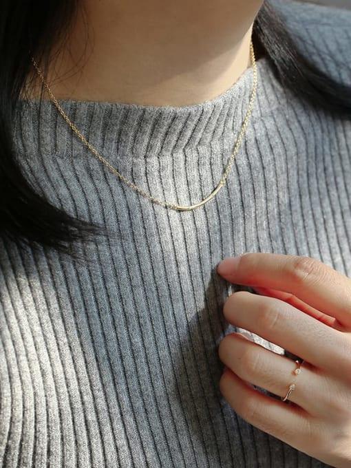 CHARME Brass Rhinestone Geometric Minimalist Necklace 3