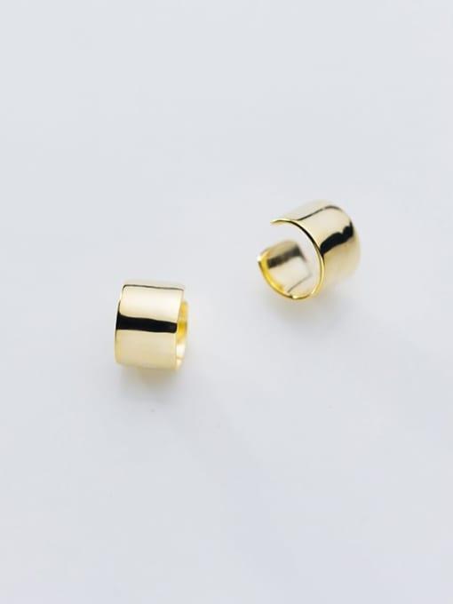 Rosh 925 Sterling Silver Smooth Geometric Minimalist Stud Earring 3