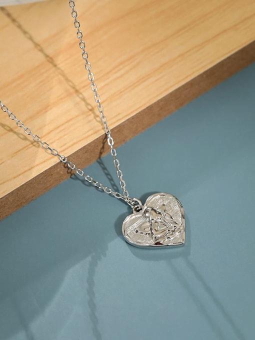 Dak Phoenix 925 Sterling Silver Heart  angel Vintage pendant Necklace 1