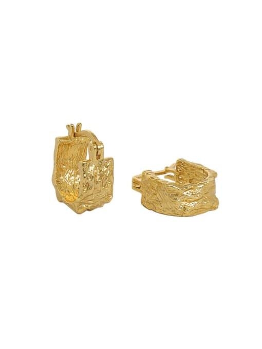 18K gold 925 Sterling Silver Geometric Vintage Stud Earring