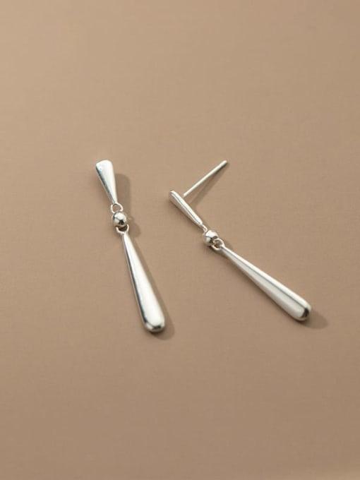 Rosh 925 Sterling Silver Water Drop Minimalist Drop Earring