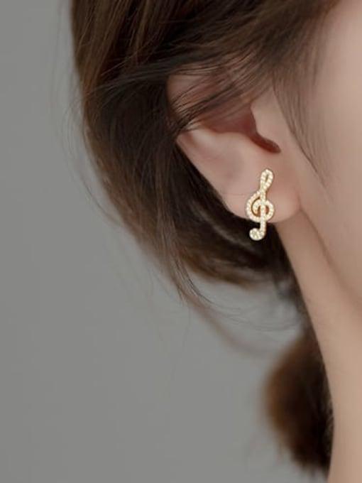 Rosh 925 Sterling Silver Cubic Zirconia Asymmetry Irregular Minimalist Stud Earring 3