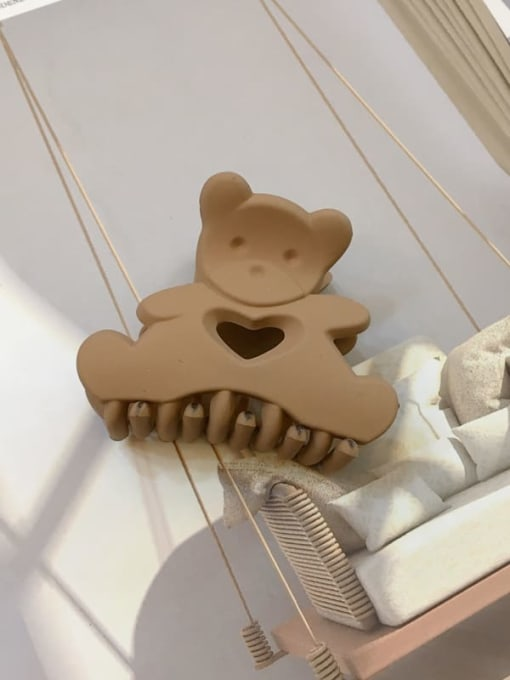 Frosted coffee Alloy Resin Cute Panda Jaw Hair Claw