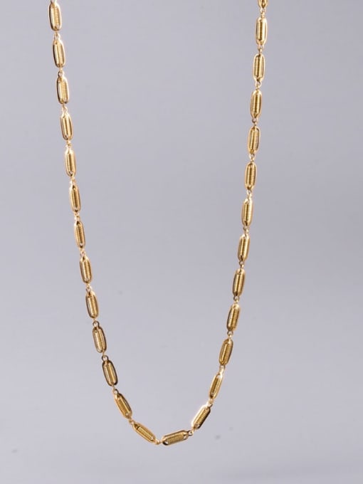 A TEEM Titanium Steel Irregular Hip Hop l+Hollow Chain Necklace 1