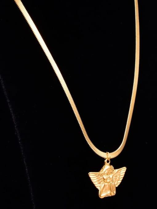A TEEM Titanium  Cute  Angel Wing Pendant Necklace 1