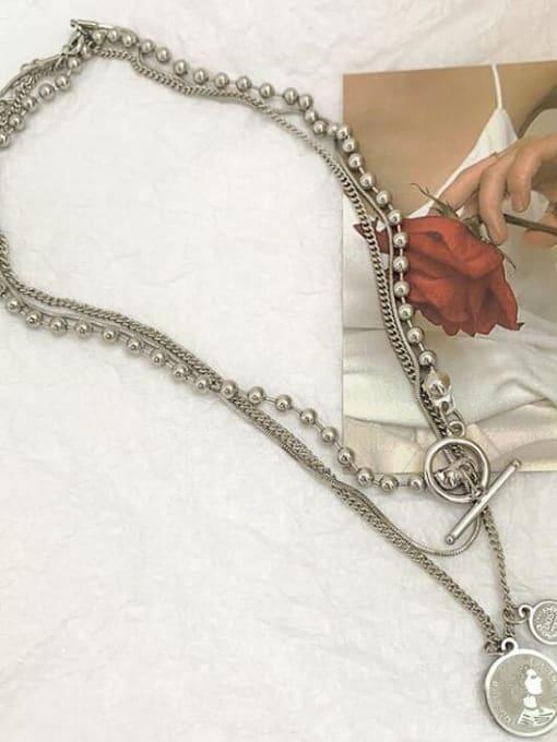 A TEEM Titanium Heart Vintage Multi Strand Necklace