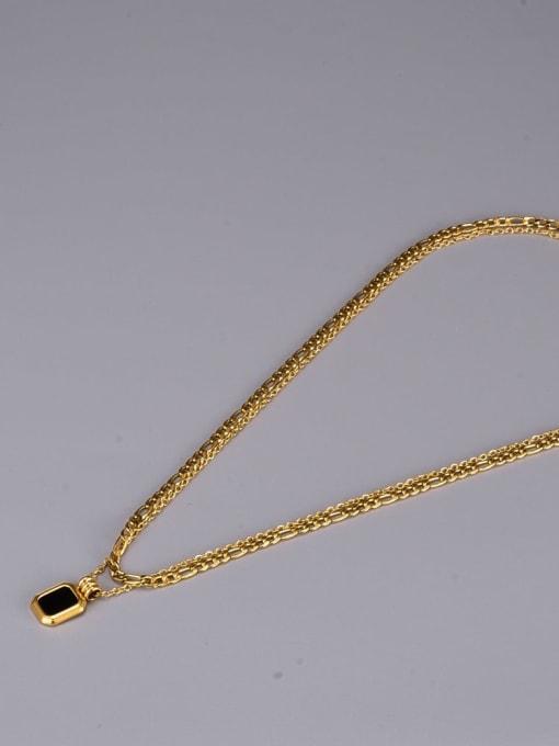 A TEEM Titanium Steel Acrylic Geometric Vintage Multi Strand Necklace 1