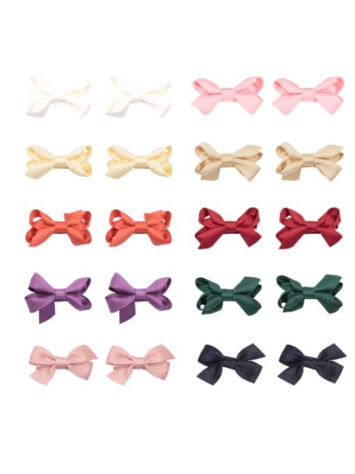YOKI KIDS Alloy Fabric Cute Bowknot  Multi Color Hair Barrette 0