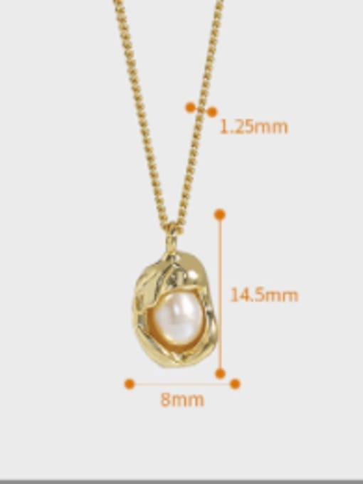 DAKA 925 Sterling Silver Imitation Pearl Irregular Vintage Necklace 4
