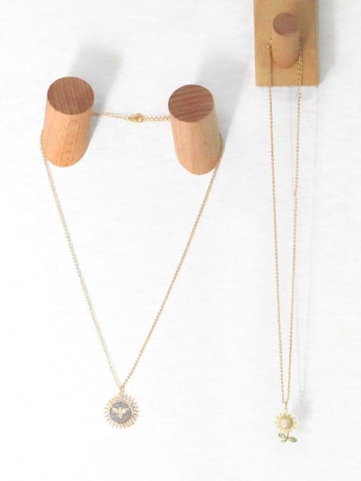 CC Brass Cubic Zirconia Locket Hip Hop Necklace 2