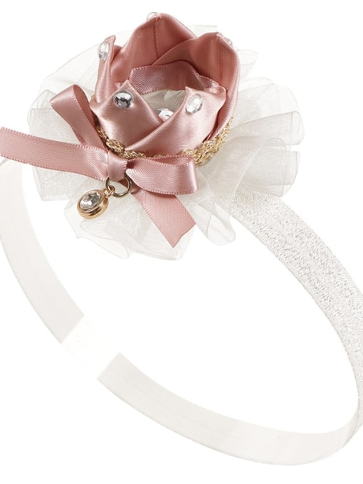 3 champagne hair band Alloy Yarn Cute Flower  Multi Color Hair Headband