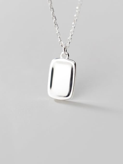 Rosh 925 Sterling Silver Geometric Minimalist Necklace 1