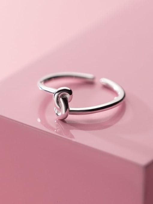 Rosh 925 Sterling Silver Irregular Minimalist Band Ring 0