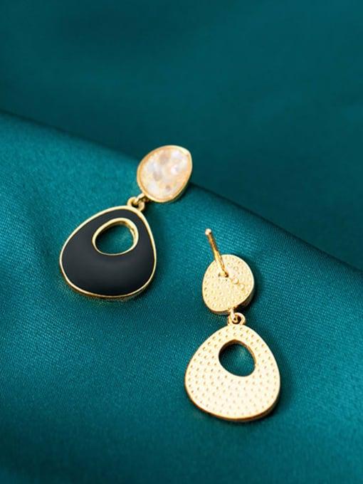 Rosh 925 Sterling Silver Enamel Geometric Minimalist Drop Earring 3