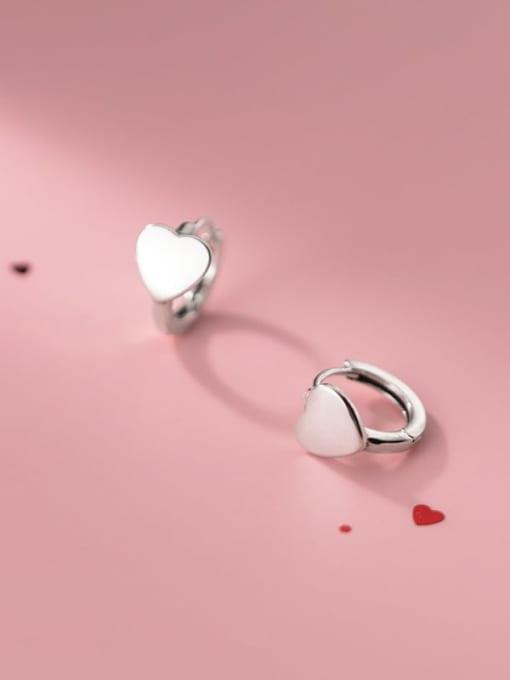 Rosh 925 Sterling Silver Heart Minimalist Stud Earring 2