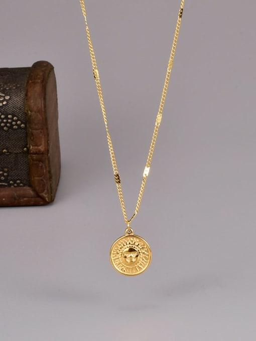 A TEEM Titanium Steel Sun Smiley Minimalist Necklace 0