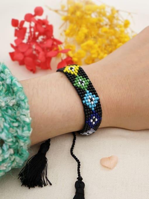 Roxi Multi Color GMB Bead Geometric Bohemia Adjustable Bracelet 1