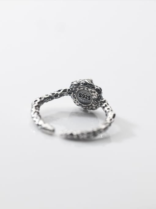 Rosh 925 Sterling Silver Carnelian Geometric Vintage Band Ring 3