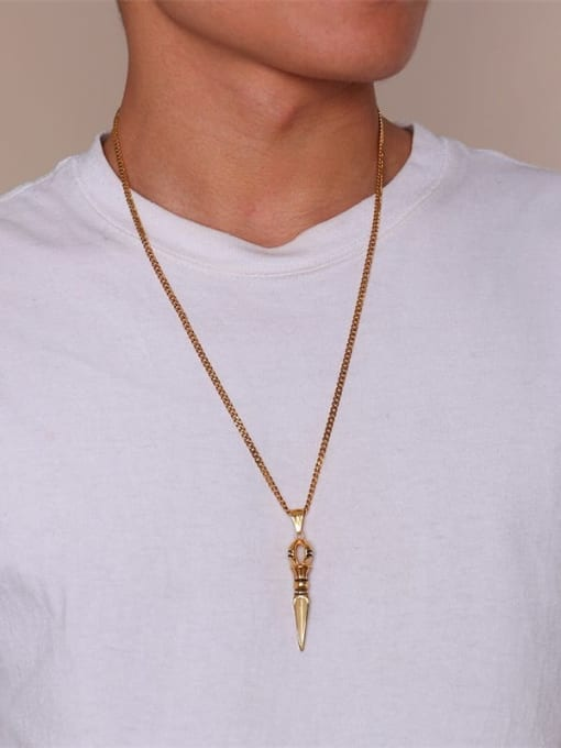 CONG Stainless steel Irregular Ethnic Necklace 1
