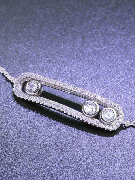 CC Alloy Cubic Zirconia Geometric Vintage Link Bracelet 2