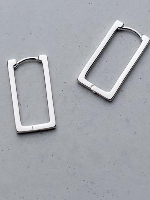 Rosh 925 Sterling Silver Hollow Geometric Minimalist Stud Earring 3