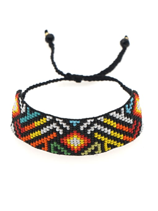 Roxi Multi Color MGB Bead Geometric Bohemia Handmade Weave Bracelet 0