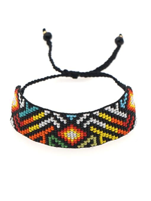 Roxi Multi Color MGB Bead Geometric Bohemia Handmade Weave Bracelet