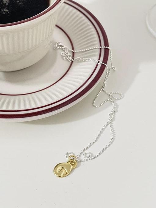 Design Necklace b939 925 Sterling Silver Irregular Minimalist Necklace