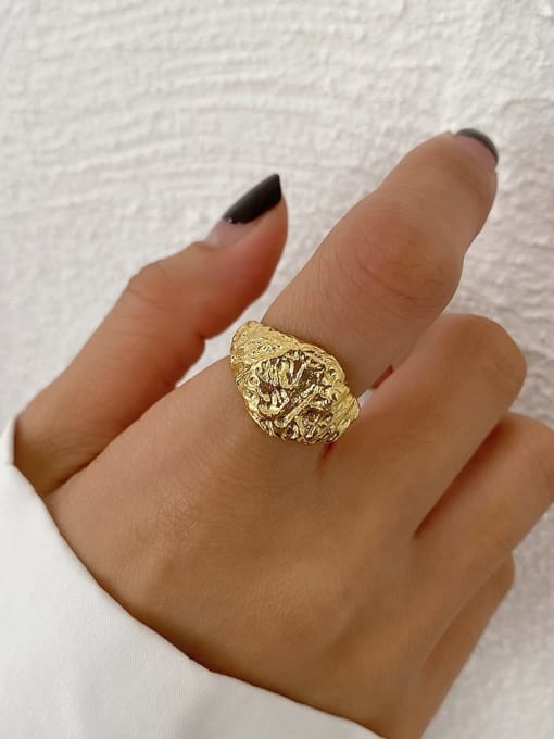 Boomer Cat 925 Sterling Silver Hollow Flower Vintage Band Ring 2