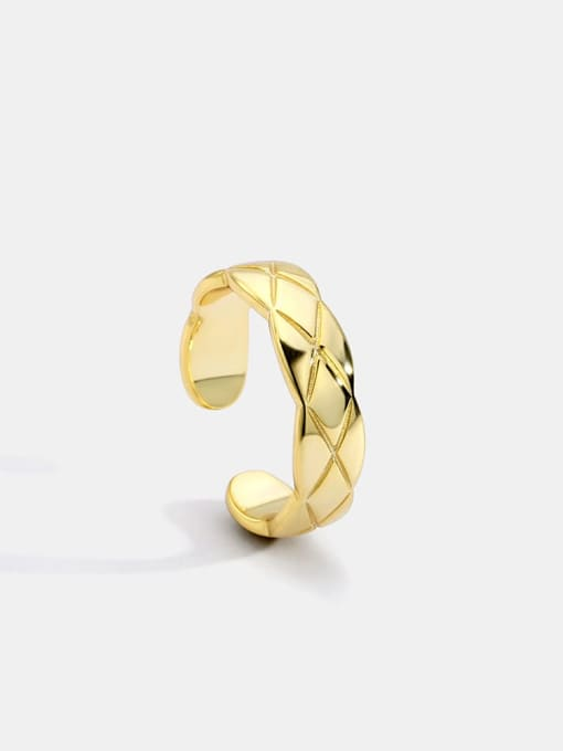 CHARME Brass Geometric Vintage Band Ring 0