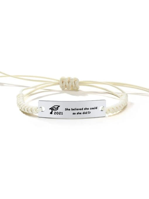 CONG Stainless steel Geometric Minimalist Woven Bracelet 0