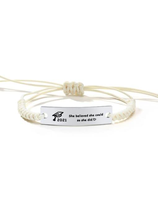 CONG Stainless steel Geometric Minimalist Woven Bracelet