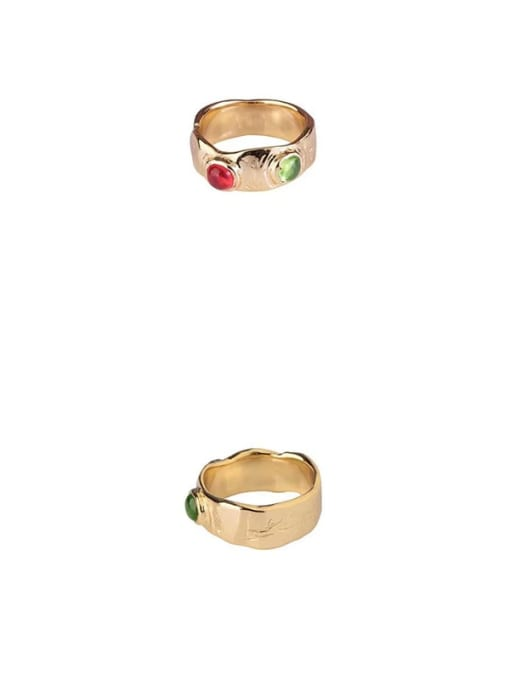 LI MUMU Brass Irregular Vintage Band Ring 4
