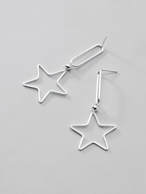 Rosh 925 Sterling Silver Star Minimalist Drop Earring 3
