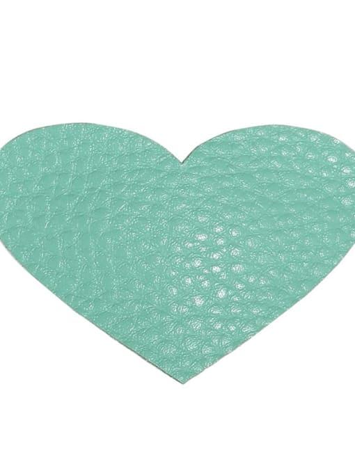 3 green love Alloy Leather Cute Geometric  Multi Color Hair Barrette