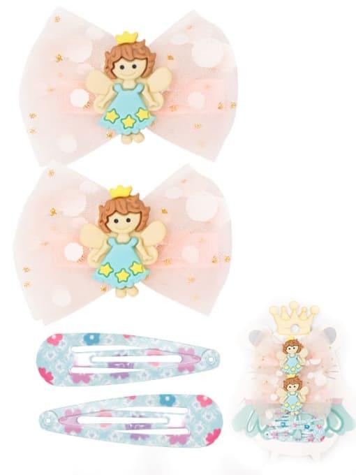 4 fairy fairy suit Alloy Yarn Cute Bowknot  Multi Color Hair Barrette