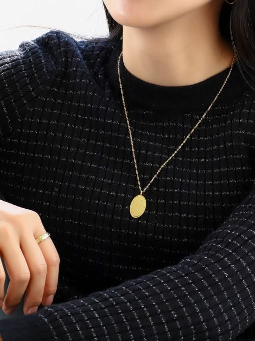 CHARME Brass Geometric Minimalist Necklace 3