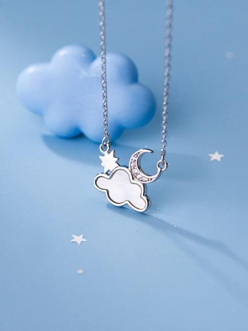 Rosh 925 Sterling Silver Enamel Cloud Minimalist Necklace 1