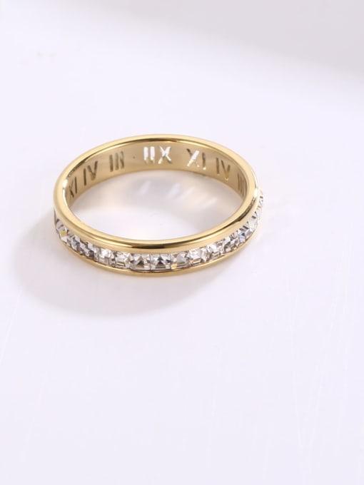 MIYA Titanium Steel Rhinestone Geometric Minimalist Band Ring 2